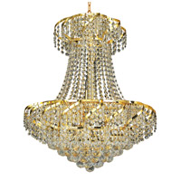 Elegant Lighting Belenus 11 Light Dining Chandelier in Gold with Swarovski Strass Clear Crystal ECA1D22G/SS
