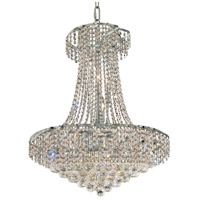 Elegant Lighting Belenus 15 Light Dining Chandelier in Chrome with Elegant Cut Clear Crystal ECA1D26C/EC