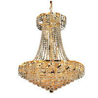 Elegant Lighting Belenus 15 Light Dining Chandelier in Gold with Swarovski Strass Clear Crystal ECA1D26G/SS
