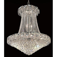 Elegant Lighting VECA1D30C/RC Belenus 18 Light 30 inch Chrome Dining Chandelier Ceiling Light in Royal Cut alternative photo thumbnail