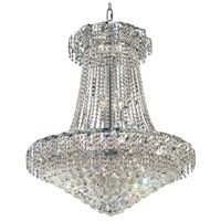 Elegant Lighting Belenus 18 Light Dining Chandelier in Chrome with Elegant Cut Clear Crystal ECA1D30C/EC