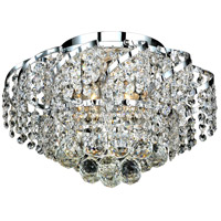 Elegant Lighting Belenus 6 Light Flush Mount in Chrome with Elegant Cut Clear Crystal ECA1F16C/EC