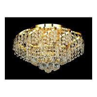 Elegant Lighting Belenus 6 Light Flush Mount in Gold with Elegant Cut Clear Crystal ECA1F16G/EC alternative photo thumbnail
