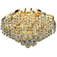 Elegant Lighting Belenus 6 Light Flush Mount in Gold with Elegant Cut Clear Crystal ECA1F16G/EC photo thumbnail