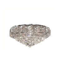 Elegant Lighting VECA1F20C/RC Belenus 8 Light 20 inch Chrome Flush Mount Ceiling Light in Royal Cut alternative photo thumbnail