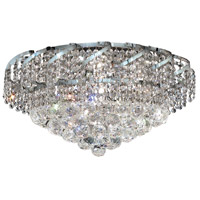 Elegant Lighting Belenus 8 Light Flush Mount in Chrome with Elegant Cut Clear Crystal ECA1F20C/EC