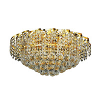 Elegant Lighting VECA1F20G/SA Belenus 8 Light 20 inch Gold Flush Mount Ceiling Light in Spectra Swarovski alternative photo thumbnail