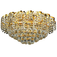 Elegant Lighting Belenus 8 Light Flush Mount in Gold with Elegant Cut Clear Crystal ECA1F20G/EC