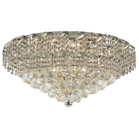 Elegant Lighting Belenus 10 Light Flush Mount in Chrome with Elegant Cut Clear Crystal ECA1F26C/EC