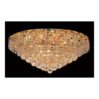 Elegant Lighting VECA1F26G/RC Belenus 10 Light 26 inch Gold Flush Mount Ceiling Light in Royal Cut alternative photo thumbnail