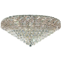 Elegant Lighting Belenus 12 Light Flush Mount in Chrome with Elegant Cut Clear Crystal ECA1F30C/EC