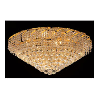 Elegant Lighting VECA1F30G/SS Belenus 12 Light 30 inch Gold Flush Mount Ceiling Light in Swarovski Strass alternative photo thumbnail
