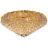 Elegant Lighting Belenus 12 Light Flush Mount in Gold with Royal Cut Clear Crystal ECA1F30G/RC