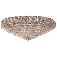 Elegant Lighting Belenus 28 Light Flush Mount in Chrome with Elegant Cut Clear Crystal ECA1F36C/EC