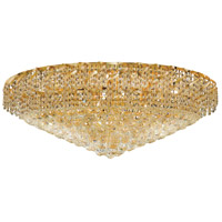 Elegant Lighting Belenus 28 Light Flush Mount in Gold with Swarovski Strass Clear Crystal ECA1F36G/SS