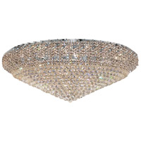 Belenus 36 Light 48 inch Chrome Flush Mount Ceiling Light in Elegant Cut