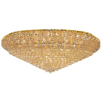 Belenus 36 Light 48 inch Gold Flush Mount Ceiling Light in Elegant Cut