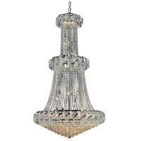 Elegant Lighting Belenus 32 Light Foyer in Chrome with Elegant Cut Clear Crystal ECA1G36C/EC