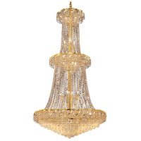 Elegant Lighting Belenus 32 Light Foyer in Gold with Elegant Cut Clear Crystal ECA1G36G/EC