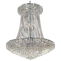 Elegant Lighting Belenus 22 Light Foyer in Chrome with Royal Cut Clear Crystal ECA1G36SC/RC