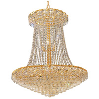 Elegant Lighting Belenus 22 Light Foyer in Gold with Elegant Cut Clear Crystal ECA1G36SG/EC