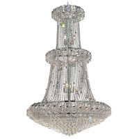Elegant Lighting Belenus 32 Light Foyer in Chrome with Elegant Cut Clear Crystal ECA1G42C/EC