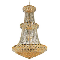 Elegant Lighting Belenus 32 Light Foyer in Gold with Royal Cut Clear Crystal ECA1G42G/RC
