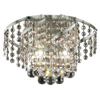 Elegant Lighting Belenus 2 Light Wall Sconce in Chrome with Elegant Cut Clear Crystal ECA1W12C/EC