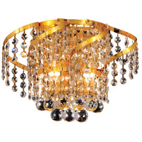 Elegant Lighting Belenus 2 Light Wall Sconce in Gold with Elegant Cut Clear Crystal ECA1W12G/EC