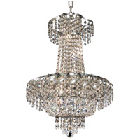 Elegant Lighting Belenus 6 Light Dining Chandelier in Chrome with Spectra Swarovski Clear Crystal ECA2D18C/SA