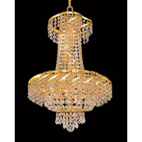 Elegant Lighting ECA2D18G/RC Belenus 6 Light 18 inch Gold Dining Chandelier Ceiling Light in Royal Cut alternative photo thumbnail