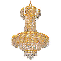 Elegant Lighting Belenus 6 Light Dining Chandelier in Gold with Swarovski Strass Clear Crystal ECA2D18G/SS