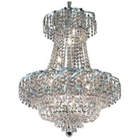 Elegant Lighting Belenus 11 Light Dining Chandelier in Chrome with Elegant Cut Clear Crystal ECA2D22C/EC