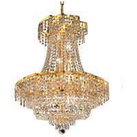 Elegant Lighting Belenus 11 Light Dining Chandelier in Gold with Swarovski Strass Clear Crystal ECA2D22G/SS