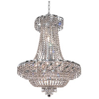 Elegant Lighting Belenus 15 Light Dining Chandelier in Chrome with Elegant Cut Clear Crystal ECA2D26C/EC