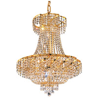 Elegant Lighting Belenus 15 Light Dining Chandelier in Gold with Swarovski Strass Clear Crystal ECA2D26G/SS