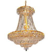 Elegant Lighting Belenus 18 Light Dining Chandelier in Gold with Elegant Cut Clear Crystal ECA2D30G/EC