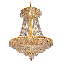 Elegant Lighting ECA2D30G/SS Belenus 18 Light 30 inch Gold Dining Chandelier Ceiling Light in Swarovski Strass
