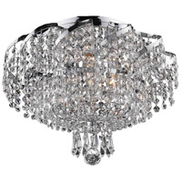 Elegant Lighting Belenus 6 Light Flush Mount in Chrome with Elegant Cut Clear Crystal ECA2F16C/EC