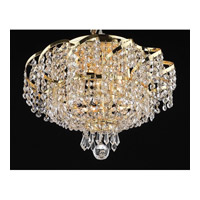 Elegant Lighting Belenus 6 Light Flush Mount in Gold with Swarovski Strass Clear Crystal ECA2F16G/SS