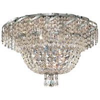 Elegant Lighting Belenus 8 Light Flush Mount in Chrome with Elegant Cut Clear Crystal ECA2F20C/EC