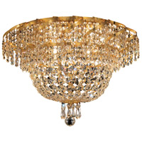 Elegant Lighting Belenus 8 Light Flush Mount in Gold with Elegant Cut Clear Crystal ECA2F20G/EC