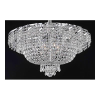 Elegant Lighting ECA2F26C/EC Belenus 10 Light 26 inch Chrome Flush Mount Ceiling Light in Elegant Cut alternative photo thumbnail