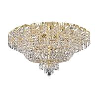 Elegant Lighting Belenus 10 Light Flush Mount in Gold with Swarovski Strass Clear Crystal ECA2F26G/SS alternative photo thumbnail