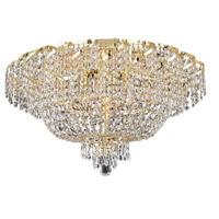 Elegant Lighting Belenus 10 Light Flush Mount in Gold with Swarovski Strass Clear Crystal ECA2F26G/SS photo thumbnail