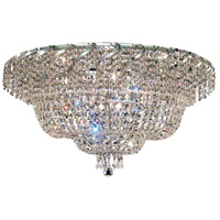 Elegant Lighting Belenus 12 Light Flush Mount in Chrome with Elegant Cut Clear Crystal ECA2F30C/EC