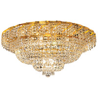 Elegant Lighting Belenus 12 Light Flush Mount in Gold with Swarovski Strass Clear Crystal ECA2F30G/SS