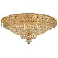 Elegant Lighting Belenus 20 Light Flush Mount in Gold with Swarovski Strass Clear Crystal ECA2F36G/SS