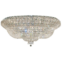 Elegant Lighting Belenus 36 Light Flush Mount in Chrome with Elegant Cut Clear Crystal ECA2F48C/EC