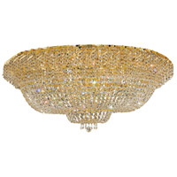 Elegant Lighting Belenus 36 Light Flush Mount in Gold with Elegant Cut Clear Crystal ECA2F48G/EC